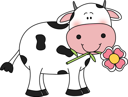 Cow with a Flower in its Mouth