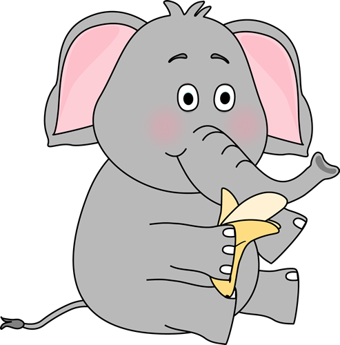 Elephant Eating a Banana