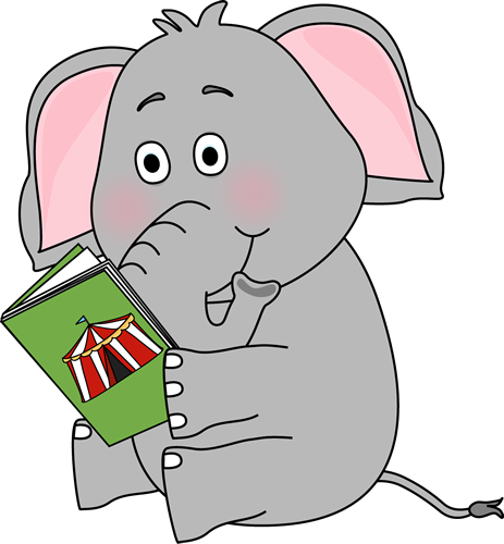 free clip art animals reading books - photo #2
