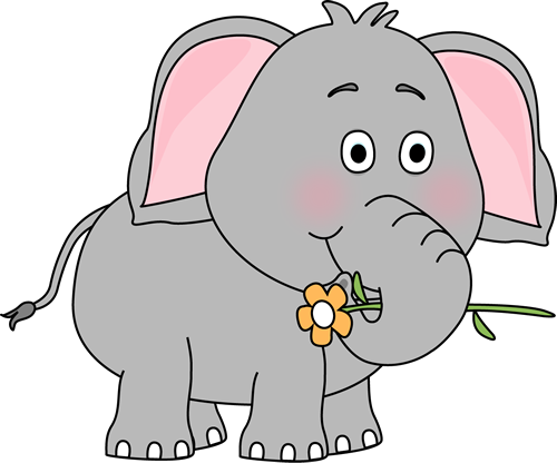 Elephant with a Flower