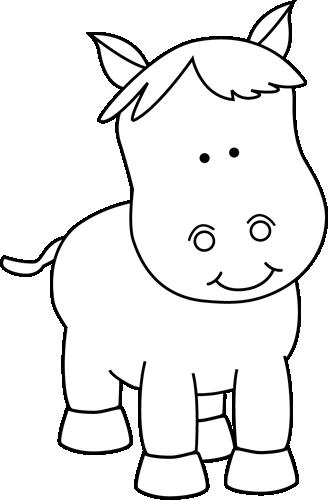 Black and White Pony