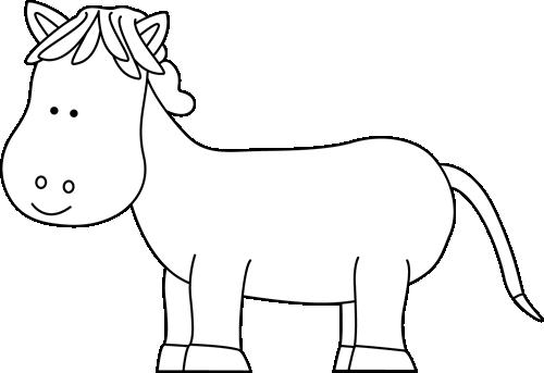 Black and White Short Horse