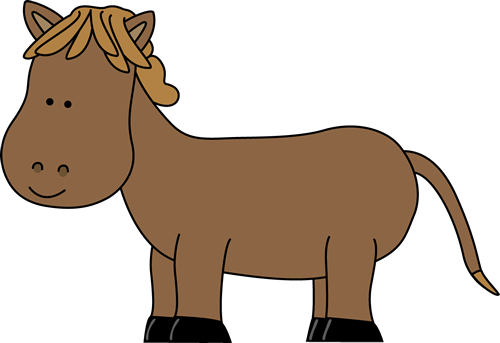 Short horse clip art image brown horse with short legs
