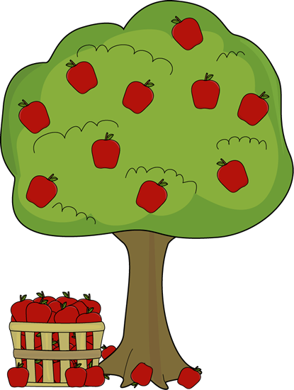 apple tree with apple basket clip art apple tree with apple basket rh mycutegraphics com free clipart of apple trees clipart apple tree black and white