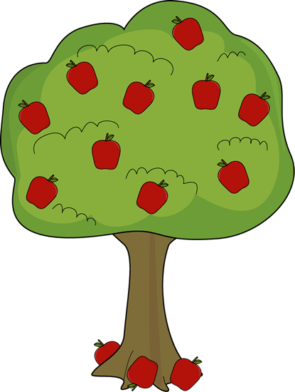 Apple Tree With Fallen Apples