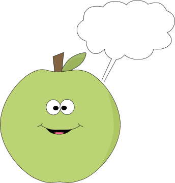 Green Apple and Blank Callout