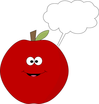 Red Apple with a Blank Callout