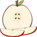 Sliced Apple and Wedges