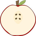 Sliced Red Apple