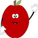 Waving Red Apple