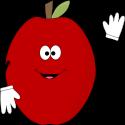 Waving Red Apple