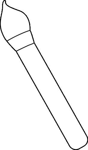 Black and White Art Paint Brush