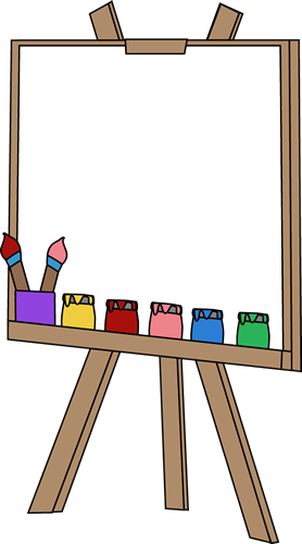 blank paint easel clip art blank paint easel image rh mycutegraphics com Paint Brush Clip Art art easel clipart black and white