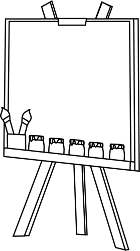 Black and White Easel