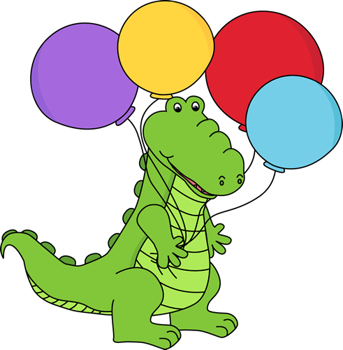Alligator with Balloons