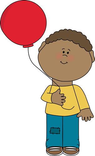 Boy Holding a Balloon