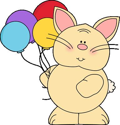 Bunny holding Balloons