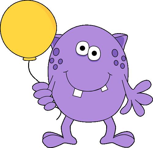 Monster Holding a Balloon
