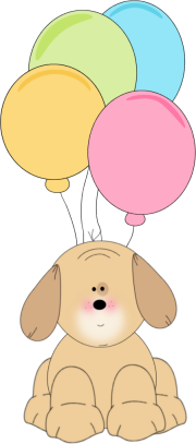 Puppy and Balloons