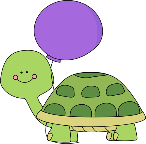 Turtle with Purple Balloon