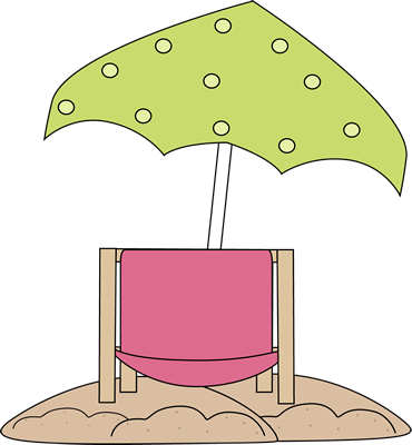 Beach Chair Under Beach Umbrella Clip Art