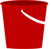 Red Sand Pail Clip Art