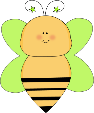 Bee with Green Star Antenna