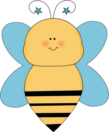Bee with Blue Star Antenna