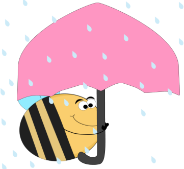 Bee Under an Umbrella