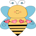 Blue Love Bee