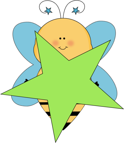 Blue Star Bee with a Green Star