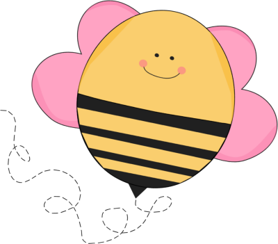 Chubby Pink Flying Bee