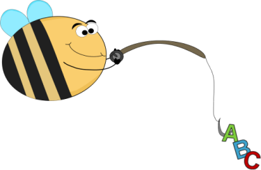Funny Bee Alphabet Fishing Alphabet Fishing