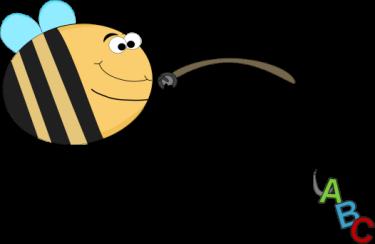 Funny Bee Alphabet Fishing