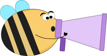 Funny Bee Yelling into a Bullhorn