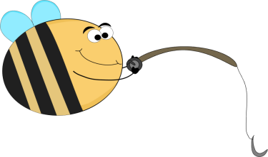 Funny Bee Fishing