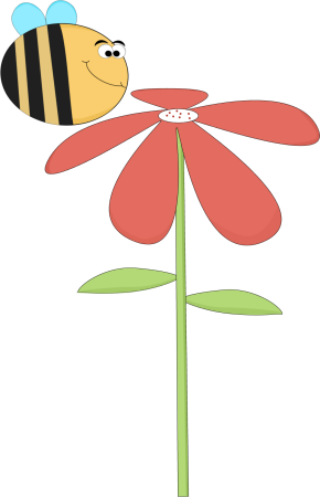 Funny Bee Smelling a Flower