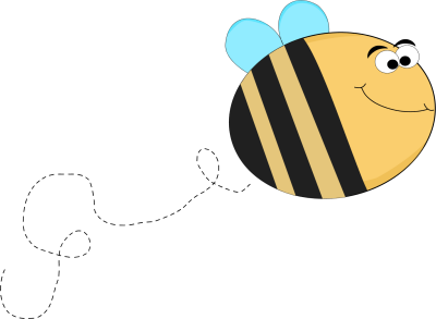 Funny Bee with Big Eyes Flying