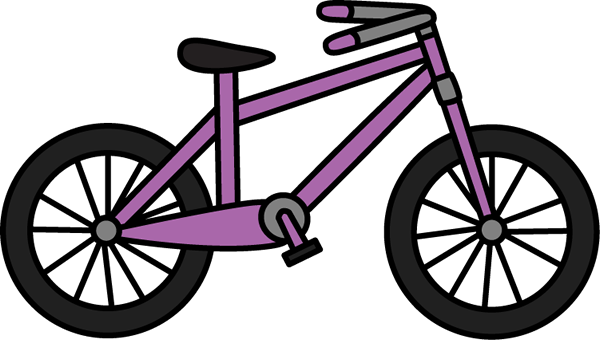 Bike Clip Art Purple Bicycle Clip Art Image
