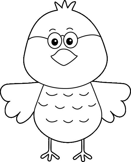 Black and White Bird Wearing Glasses