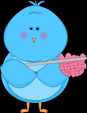 Blue Bird Catching Hearts