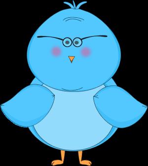 Blue Bird Wearing Glasses