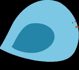 Chubby Blue Bird