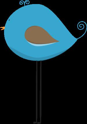 Long Legged Blue Bird