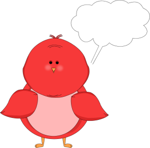 Red Bird with a Blank Callout with a Blank Callout