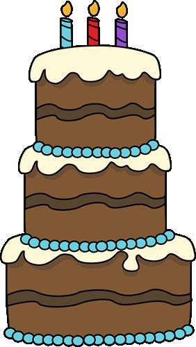 Three Layer Cake Clip Art : Big Birthday Cake Clip Art - Big Birthday Cake Image