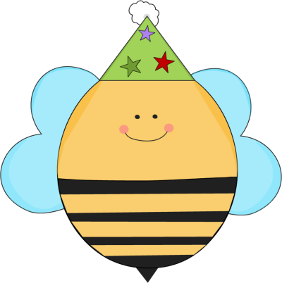Birthday Bee in a Party Hat