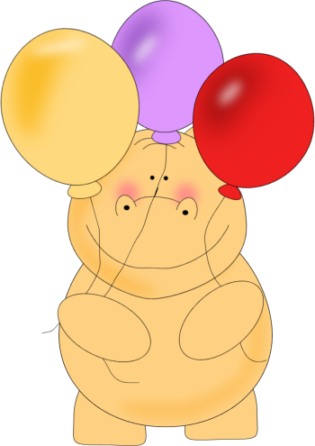 Birthday Hippo Balloons