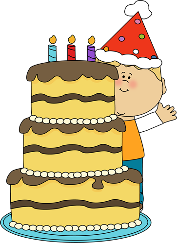 Boy with Birthday Cake Clip Art Boy with Birthday Cake Image