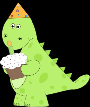 Dinosaur Birthday Cupcake